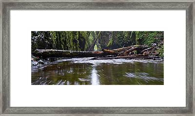 Framed Print featuring the photograph Oneonta Pano by Jonathan Davison