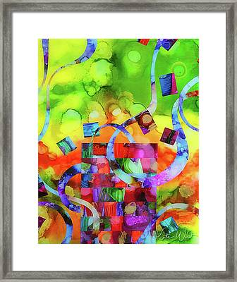 Framed Print featuring the mixed media Ones Who Flew Away by Kate Word