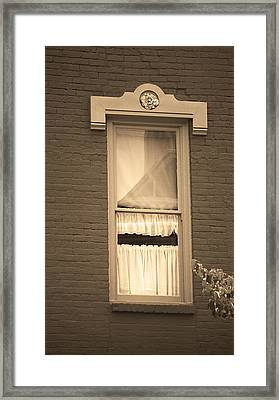 Jonesborough Tennessee - One Window Framed Print by Frank Romeo
