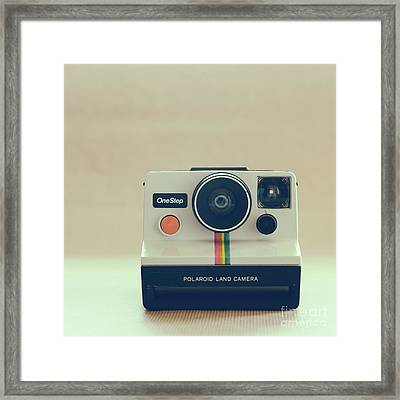 Framed Print featuring the photograph Onestep Polaroid by Ana V Ramirez