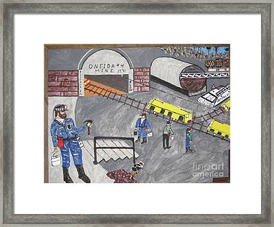 Framed Print featuring the painting Onieda Coal Mine by Jeffrey Koss