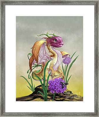 Framed Print featuring the digital art Onion Dragon by Stanley Morrison