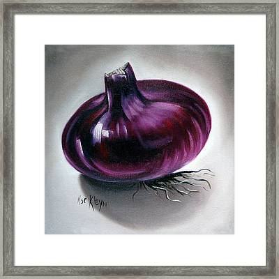 Onion Framed Print by Ilse Kleyn