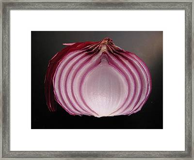 Onion Framed Print by Lindie Racz
