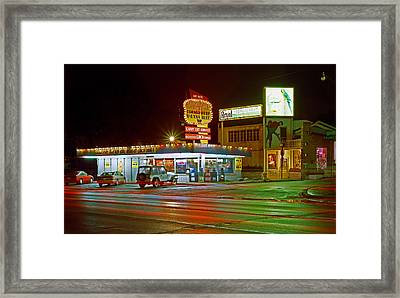 Onion Roll Deli Framed Print