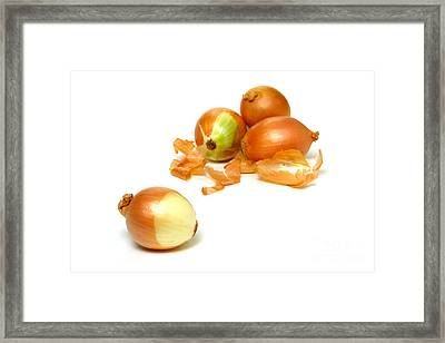 Onions  Framed Print by Olivier Le Queinec