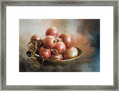 Framed Print featuring the photograph Onions by Robin-Lee Vieira