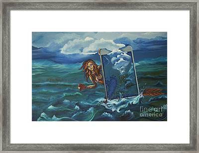 Online Mermaid Framed Print by Vipula Saxena
