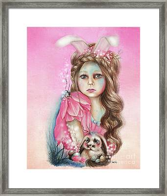 Only Friend In The World - Bunny Framed Print