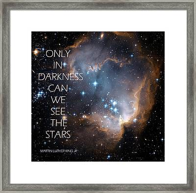 Only In Darkness Framed Print