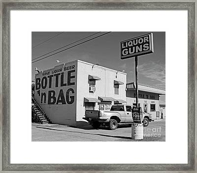 Only In Texas Framed Print