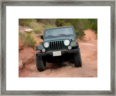Only Jeeps Here Framed Print