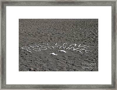 Only Leave Footprints Framed Print