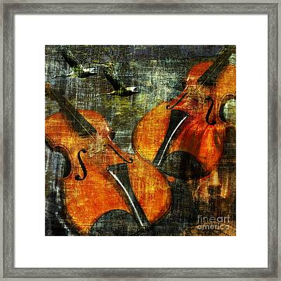 Only Music Heals A Broken Heart Framed Print