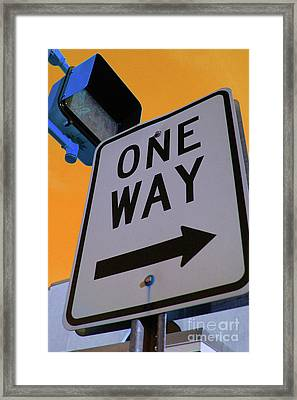 Only One Way Framed Print