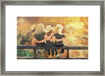 Only Sisters Know Framed Print by Karen Kennedy Chatham