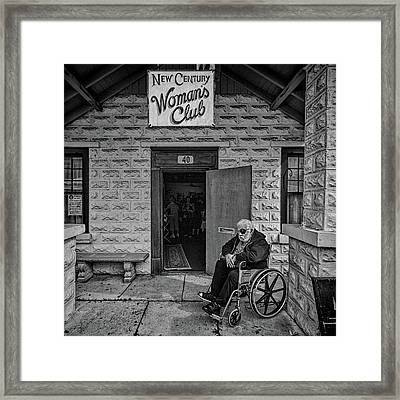 Framed Print featuring the photograph Only The Lonely by Lewis Mann