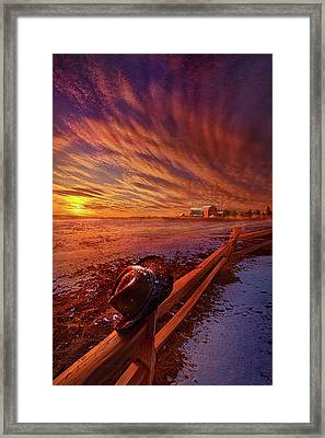 Only This Moment In Between Before And After Framed Print