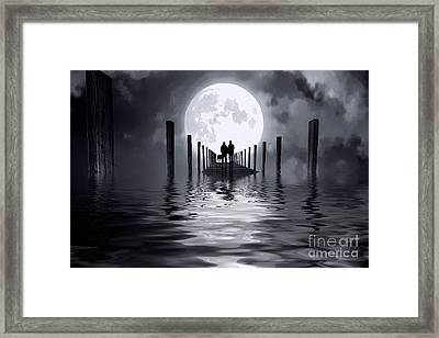 Only Us Framed Print by Mim White