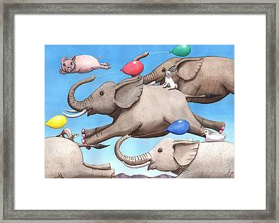 Only Way To Fly Framed Print