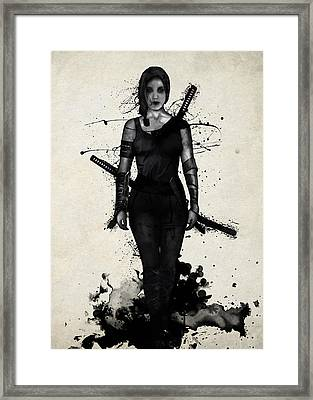 Onna Bugeisha Framed Print by Nicklas Gustafsson
