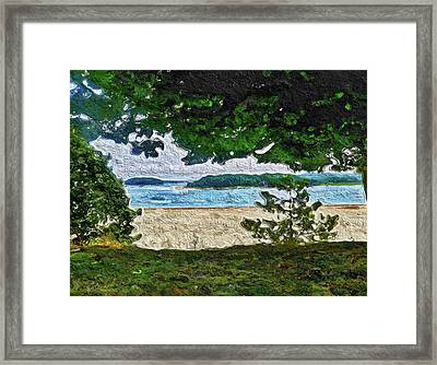 Framed Print featuring the painting Onset, Ma by Joan Reese