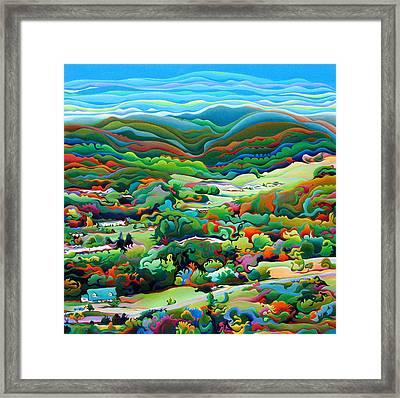 Onset Of The Appalachian Wonderfall Framed Print