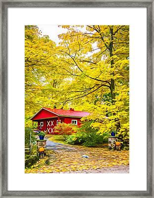 Ontario Autumn - Paint Framed Print by Steve Harrington