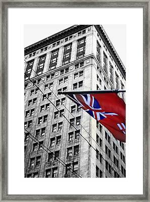 Ontario Flag Framed Print by Valentino Visentini