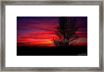 Framed Print featuring the photograph Ontario Sunset 6013 by Maciek Froncisz