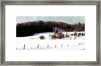 Ontario Winter Framed Print by Cabral Stock