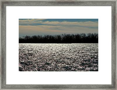 Framed Print featuring the photograph Ontario Winter Reflections by Valentino Visentini