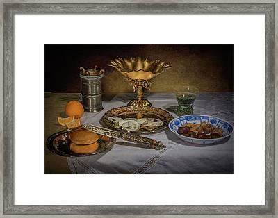 Ontbijt With Tazza-wanli Plate- Berkemeyer And Great Salt Framed Print