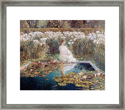 Lilies Framed Print by Childe Hassam