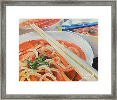 Oodles And Noodles, 2017 Framed Print