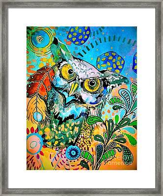 Oogke Owl Framed Print by Amy Sorrell
