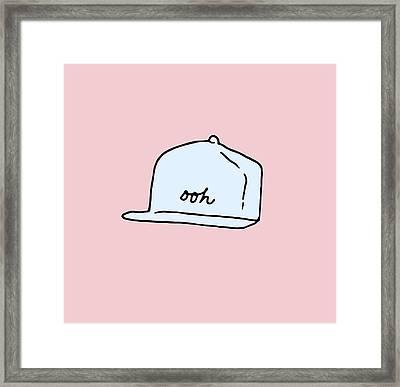 Ooh Hat Framed Print