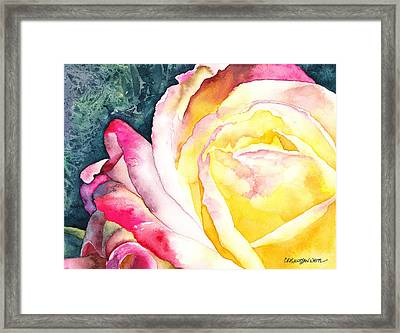 Framed Print featuring the painting Ooh La La by Casey Rasmussen White