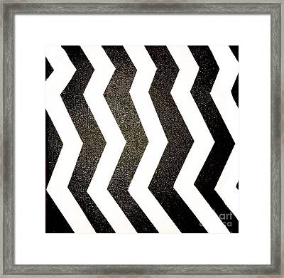 Framed Print featuring the mixed media Op Art by Janelle Dey