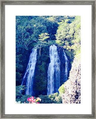 Opaeka'a Falls - Edit  Framed Print