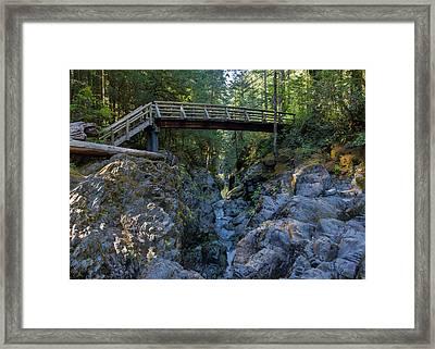 Opal Creek Bridge Framed Print