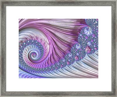 Framed Print featuring the digital art Opal Nautilus by Susan Maxwell Schmidt