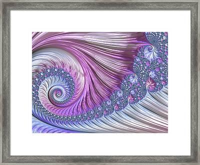 Opal Nautilus Framed Print by Susan Maxwell Schmidt