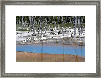 Opalescent Pool In Yellowstone National Park Framed Print by Bruce Gourley