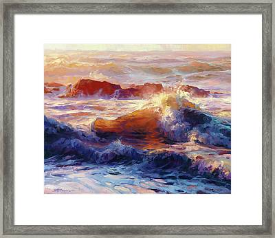 Framed Print featuring the painting Opalescent Sea by Steve Henderson