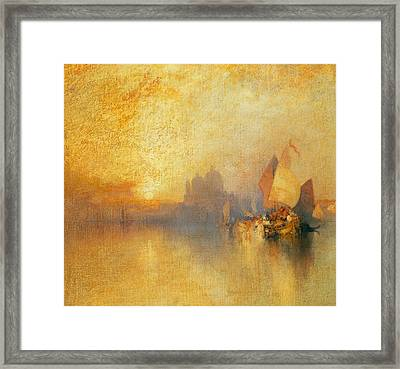 Opalescent Venice Framed Print by Thomas Moran