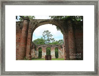 Open Air Church Framed Print by Carol Groenen