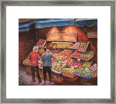 Open Air Market  Bologna Framed Print by Sam Pearson