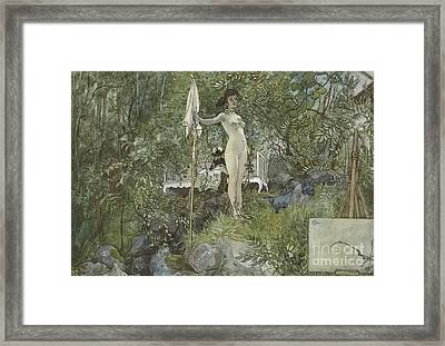 Open Air Studio Framed Print by Carl Larsson