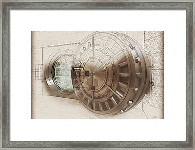 Open Bank Vault Door And Lock - Seoul Framed Print by Serge Averbukh